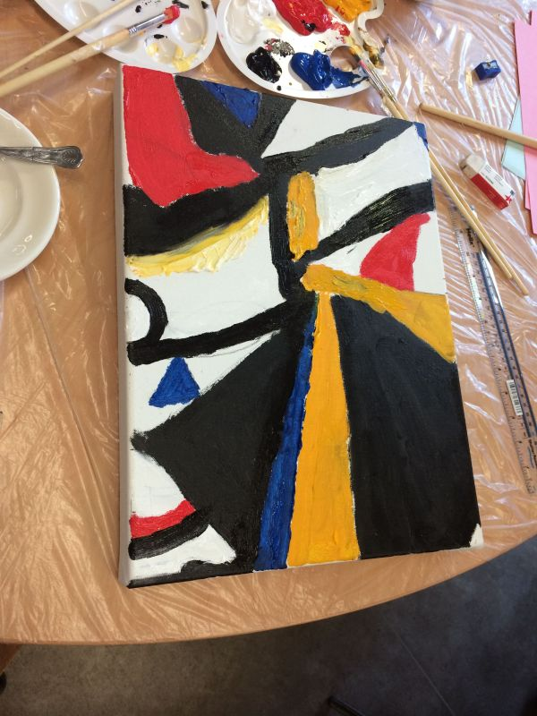 Rebecca Venn group painting